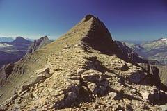 Picos indios de Stoney en parque nacional de glaciar fotografía de archivo libre de regalías