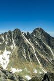 Picos majestosos altos de Tatras Fotos de Stock Royalty Free