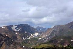 Picos na passagem de Beartooth Fotos de Stock Royalty Free