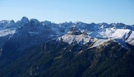 Picos nevado da dolomite em Tirol sul Imagens de Stock Royalty Free