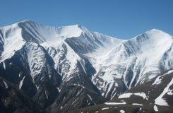 Picos nevados Fotos de archivo libres de regalías