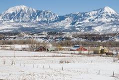 Picos sobre Paonia, Colorado Fotos de archivo libres de regalías