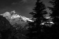 Picos tampados neve dos himalayas Imagens de Stock Royalty Free