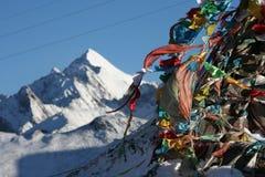 Picos tibetanos fotografia de stock