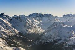 Picos y valles Fotos de archivo libres de regalías