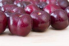 Picota cherries on wood Royalty Free Stock Photo