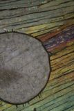 Picric syra under mikroskopet Arkivfoto