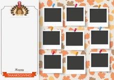 3 Pics Турции 9 благодарения листвы знамен Стоковые Фото