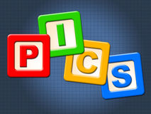 Pics Kids Blocks Shows Child Images And Youngster royalty free illustration