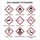 Pictoframs опасности Ghs бесплатная иллюстрация