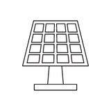 Pictograh生态太阳电池板的能量清洗 库存图片