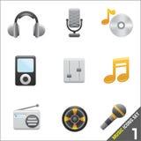 Pictogram 1 van de muziek vector Stock Foto