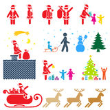 Pictogram. Christmas season pictogram symbol color icon set Royalty Free Stock Image
