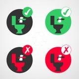Pictogram aan het toilet te werpen niet royalty-vrije stock foto