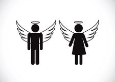 Pictogram  Angel Icon Symbol Sign. An images of Pictogram  Angel Icon Symbol Sign Stock Image