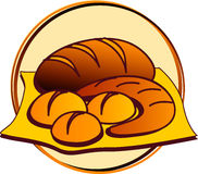 Pictogram - bakery. Picts - bakery - bread, roll vector illustration