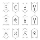 Pictogram-be*schermen-geld Stock Fotografie