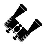 Pictogram binoculars accesorie tourism camping Royalty Free Stock Images