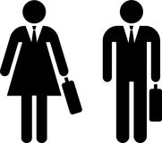 Pictogram of businessman and businesswoman Stock Images