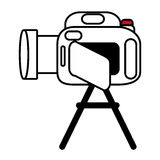 Pictogram camcorder video film tripod design Stock Photography
