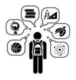 Back to school. Pictogram icon set. royalty free illustration