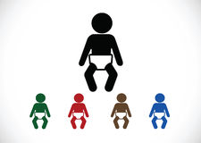 Pictogram child restroom icons Stock Images