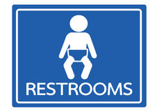 Pictogram child restroom icons Stock Photography