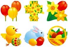 Pictogram dat voor Pasen wordt geplaatst vector illustratie