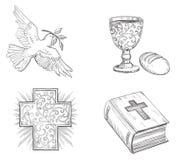 Pictogram dat voor Pasen wordt geplaatst Stock Afbeelding