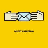 Pictogram direct-marketing vector illustratie