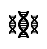 Pictogram of DNA Royalty Free Stock Photo