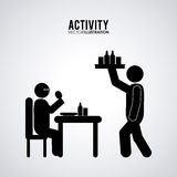 Pictogram doing activity design Royalty Free Stock Photography