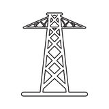 Pictogram electrical tower transmission energy power Stock Photo