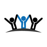 Pictogram emblem with group of executives Stock Images