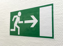 Pictogram for Escape Way Stock Photography