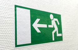Pictogram for Escape Way Stock Photo