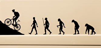 Pictogram of the evolution of the man Stock Photo