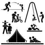 Pictogram för föräldraskap för förälder för faderpappafamilj Arkivbilder