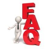Pictogram FAQ - 3d mens Royalty-vrije Stock Afbeeldingen