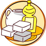 Pictogram - fat. Picts - fat - butter, oil royalty free illustration