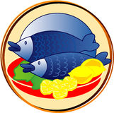Pictogram - fishes. Picts - food - fishes vector illustration