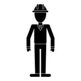 Pictogram för chef för contruction för hjälm för affärsman Arkivfoto