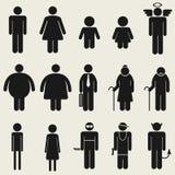 Pictogram för symbol för folksymbolstecken Arkivfoton