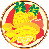 Pictogram - fruits Royalty Free Stock Images