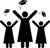 Pictogram of graduation Royalty Free Stock Photos