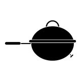 Pictogram grill barbecue kettle food camping. Vector illustration eps 10 Stock Photo