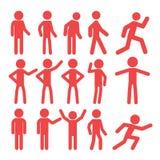 Pictogram het bedrijfs van Mensen Stock Afbeeldingen