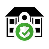 Pictogram home security protected system Stock Photos