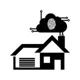 Pictogram home security technology finger print Royalty Free Stock Images