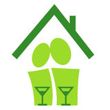 Pictogram_house-warming Stockbilder